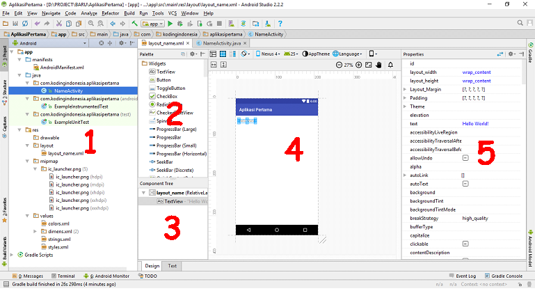 Membuat Project dan Struktur Folder Android Studio
