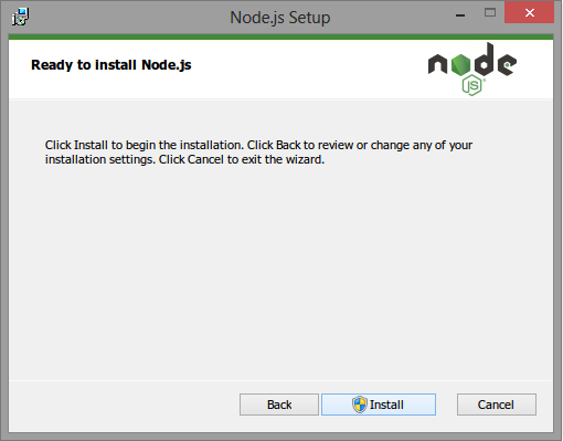 ready to install nodeJS